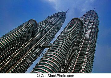 Petronas Towers - Petronas Twin Towers, Kuala Lumpur,...
