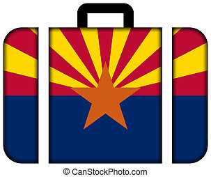 Suitcase with Arizona State Flag