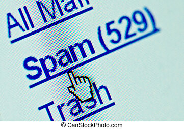 Spam e-mail folder macro Copy space for your text
