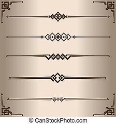 Decorative lines - Elements for design - decorative line...