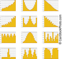 Graphic business ratings and charts collection Infographic...