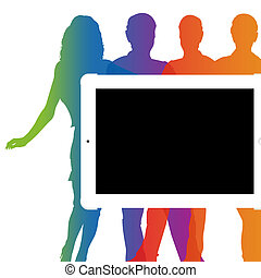 Business Presentation - Blank Tablet device with Business...