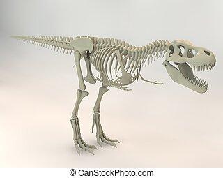 T-Rex, 3D, Esqueleto