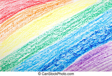 Rainbow Background - Pencil Color Rainbow Background