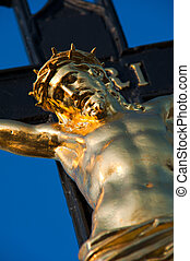 INRI - Detail photo of Jesus Christ on a cross