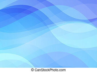 Abstract blue wavy waters background