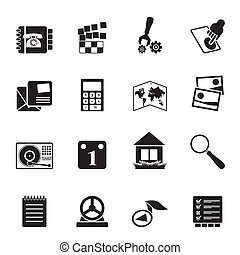 Mobile Phone and Computer icon - Silhouette Mobile Phone and...