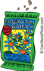 Packet of seeds - A packet of seeds for the inspirational...