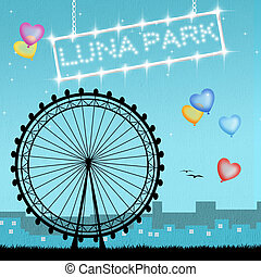 luna park - illustration of luna park