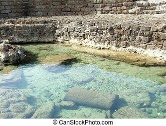 Ancient  Caesarea port . Israel