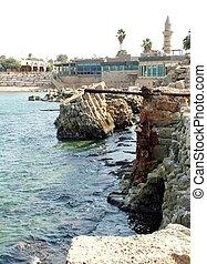 Ancient Caesarea port Israel