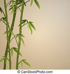 Background with bamboo stems Color version