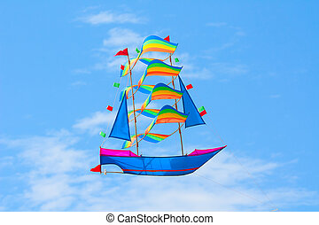 Kite - Traditional balinese kite in the sky