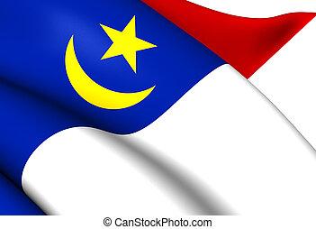 Flag of Malacca, Malaysia.
