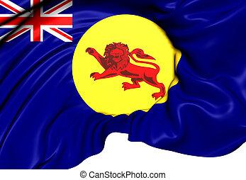 Flag of North Borneo. Close Up.