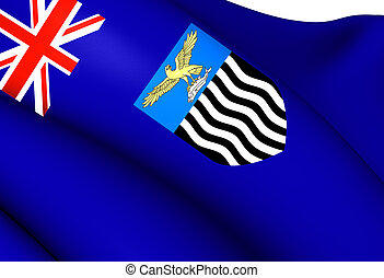 Flag of Northern Rhodesia. Close Up.