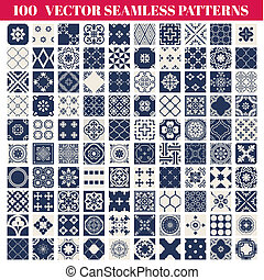 100 Seamless Patterns Background Collection - for design and...