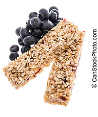 Granola Bars with Blueberries - isolated - Granola Bars with...