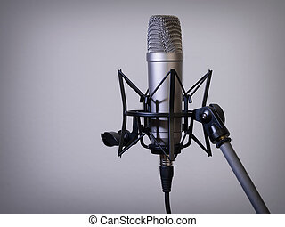 Large diaphragm microphone - Photo of a large diaphragm...