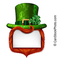 Leprechaun Blank Sign - Leprechaun blank sign banner with a...