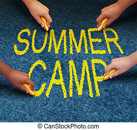 Summer Camp - Summer camp with multiethnic school kids...