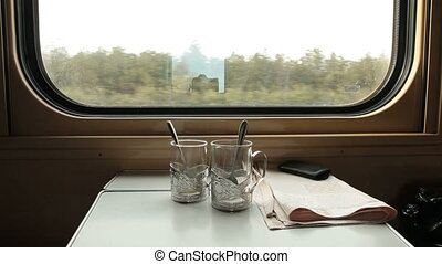 Traveling by ukrainian train in compartment