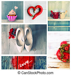Love collage - Collage of cute romantic photos