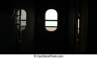 Interior of passenger train car