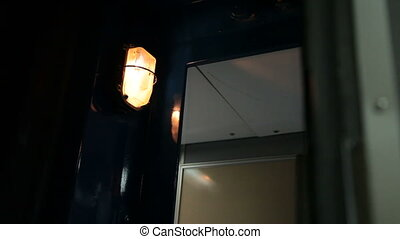 Lantern in corridor of passenger compartment car - lantern...