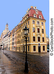 Frauenkirche Dresden - Historic houses and the Frauenkirche...