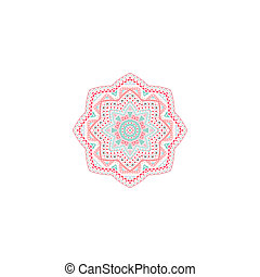Decorative pink and blue pattern frame