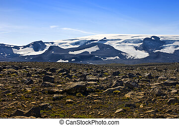 Glacier View - The Vatnajokull glacier and volcano with the...