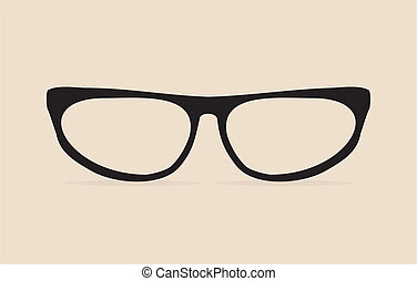 Black cat eyes vector geek glasses - Black cat eyes vector...