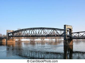 Magdeburg - Lift bridge in Magdeburg