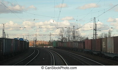 Freight trains at the station