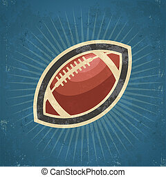 Retro American Football - Retro grunge illustration of...