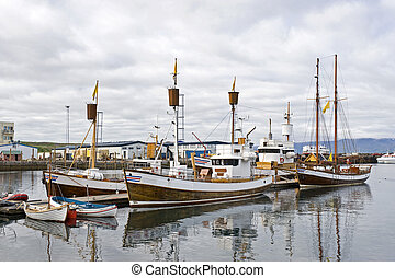 Whale Watching Fleet - Boats, used to take tourists on whale...