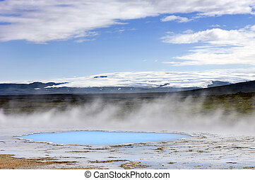 Geothermal activity - The geothermal activity and hot...