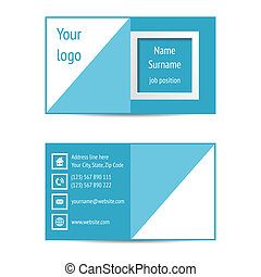 Business card - Modern blue business card template vector...
