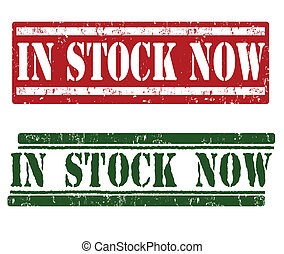 In stock now stamps - In stock now grunge rubber stamps on...