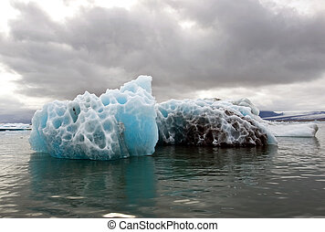Melting Iceberg - A melting iceberg in the famous...