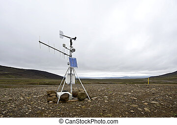 Weather station - A solar powered weather station and...
