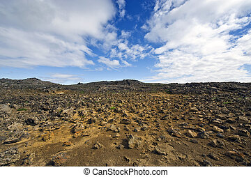 Kjolur Lava fields - The lava fields, showing Icelands...