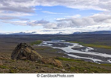 Kjolur Highland Landscape
