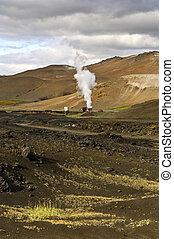 Krafla Power Plant - Part of the 60MW geothermal powerplant...