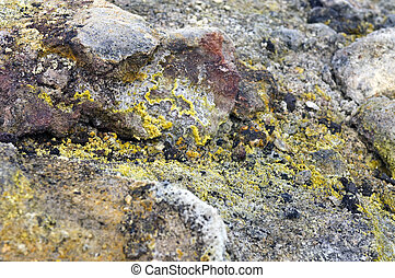 Volcanic Textures - The silica, sulfur deposits, lichen and...