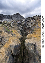 Volcanic Fissure - A glance in the volcanic Fissure of the...