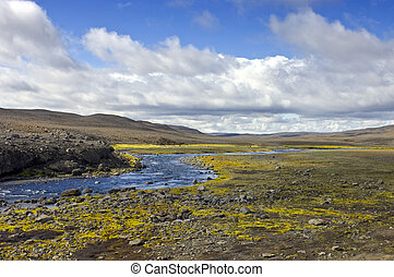 Landmannalaugar Meadow - The rocky tundra meadow surrounding...