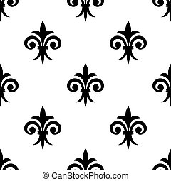 Fleur de lys seamless pattern background for any medieval...