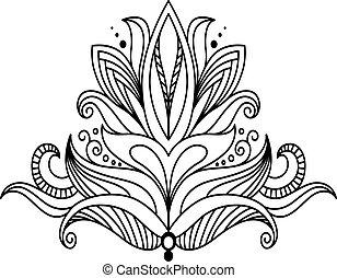Symmetrical floral design element